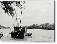 Fishing Bumboat Acrylic Print by Photo Copyright of Love Image Lab (by Sim Chin Ping)