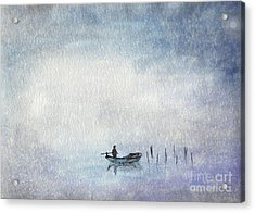 Fishing By Moonlight Acrylic Print