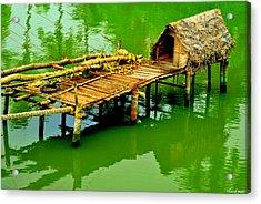 Fishing Jetty Acrylic Print by Vinod Nair