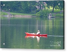 Acrylic Print featuring the photograph Fishing by Louise Peardon