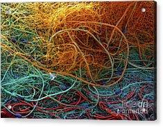 Fishing Nets Acrylic Print by Carlos Caetano