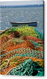 Fishing Nets Acrylic Print by Trevor Chriss