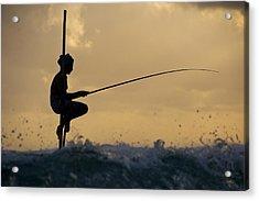 Fishing Acrylic Print by Ng Hock How