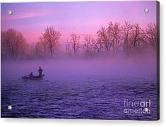 Fishing On The Bow Acrylic Print by Bob Christopher