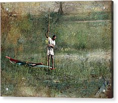 Fishing On The Nile Acrylic Print by Bjorn Borge-Lunde