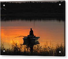 Fishing On Tower Lake Acrylic Print