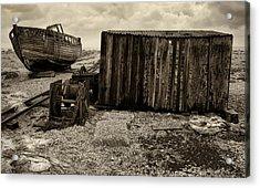 Fishing Remains At Dungeness Acrylic Print by David Turner
