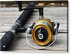 Fishing Rod And Reel . 7d13547 Acrylic Print by Wingsdomain Art and Photography