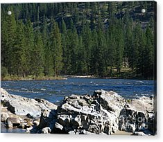 Fishing Spot Acrylic Print by Greg Patzer