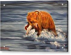 Fishing Acrylic Print by Terry Lewey