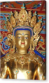 Acrylic Print featuring the photograph Five Dhyani Buddhas 1 by Lanjee Chee