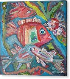Five Fish Acrylic Print by Marlene Robbins