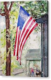 Flag Day Acrylic Print by Regina Ammerman
