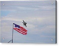 Flag Super Hornet Acrylic Print by Kevin Schrader