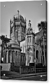 Flagler Memorial Presbyterian Church 3 - Bw Acrylic Print by Christopher Holmes