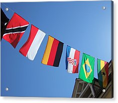 Flags Of Different Countries Acrylic Print by Matthias Hauser