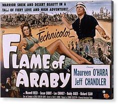 Flame Of Araby, Maureen Ohara, Jeff Acrylic Print