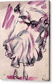 Flamenco Dancer 12 Acrylic Print