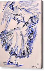 Flamenco Dancer 8 Acrylic Print