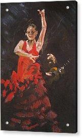 Flamenco Dancer Acrylic Print by Paul Mitchell