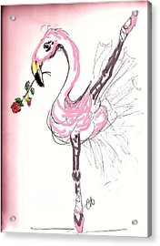 Flamenco Flamingo Acrylic Print