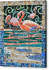 Flaming Flamingos Acrylic Print