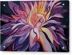 Flaming Flower Acrylic Print by Teresa Beyer