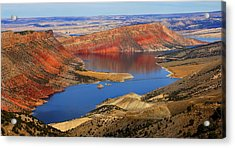 Flaming Gorge Acrylic Print by Donna Duckworth