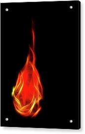 Flaming Tear Acrylic Print