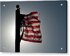 Flappin Old Glory Acrylic Print by Keith Sanders