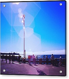 Flare #sun #sea Acrylic Print