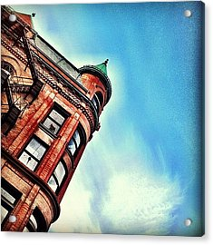 Flat Iron Building Acrylic Print by Christopher Campbell