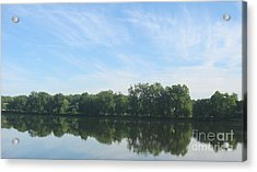 Flat Water Acrylic Print by Nancy Dole McGuigan