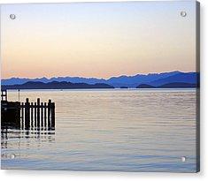 Flathead Lake At Dusk Acrylic Print