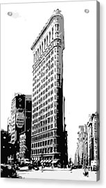 Flatiron Building Bw3 Acrylic Print by Scott Kelley