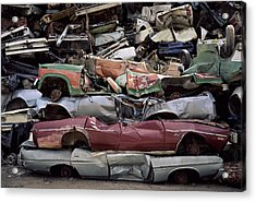 Flattened Car Bodies Acrylic Print by Dirk Wiersma
