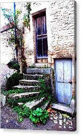 Flavigny Steps Acrylic Print by Michael Dantuono