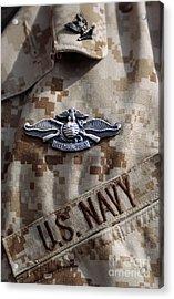 Fleet Marine Force Warfare Device Pin Acrylic Print by Stocktrek Images