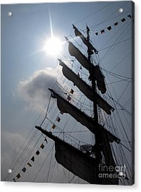 Fleet Week - Main Sail Acrylic Print by Maria Scarfone