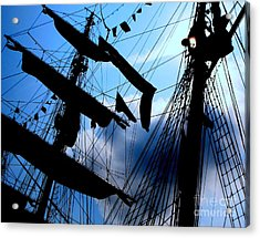 Fleet Week - Masts Acrylic Print by Maria Scarfone