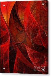 Flickering Flaming Fractal 2 Acrylic Print by Andee Design
