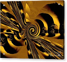 Acrylic Print featuring the digital art Flight Of The Bumblebee by Michelle H