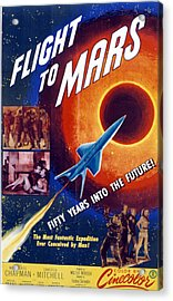 Flight To Mars, 1951, Poster Art Acrylic Print by Everett