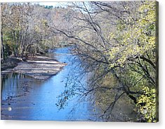 Flint Creek Colcord Oklahoma Acrylic Print by Michele Carter