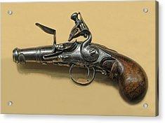 Flintlock Pistol Acrylic Print by Dave Mills
