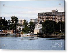 Float Plane In Victoria Inner Harbor Acrylic Print by Tanya  Searcy