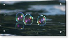 Acrylic Print featuring the photograph Floating Bubbles by Cathie Douglas
