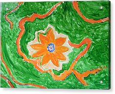 Acrylic Print featuring the painting Floating Flower by Sonali Gangane