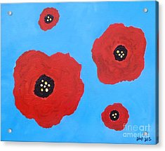 Acrylic Print featuring the painting Floating Flowers by Alys Caviness-Gober