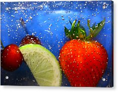 Acrylic Print featuring the photograph Floating Fruit by Paula Brown